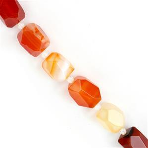 500cts Orange Stripe Agate Faceted Nuggets Approx 13x17, 38cm