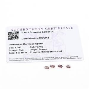 1.3cts Burmese Spinel 5x3mm Oval Pack of 4 (N)