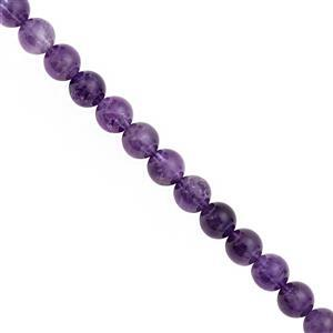 135cts Amethyst Smooth Round Approx 7.50 to 8.50mm, 28cm Strand
