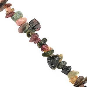 "120cts Multi-Colour Tourmaline Bead Nugget Approx 3x1.5 to 8x3mm, 32"" Strand"
