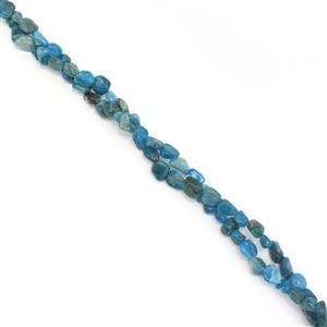 """391cts Neon Apatite Nuggets Approx 5x8mm, 60"""" Endless Necklace"""