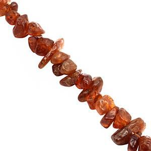 380cts Hessonite Garnet Bead Nugget Approx 3x2 to 9x3.50mm, 122mm Strand