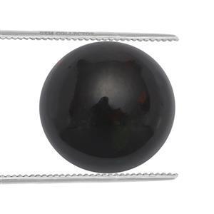 1.3cts Ethiopian Black Opal 9x9mm Round  (S)
