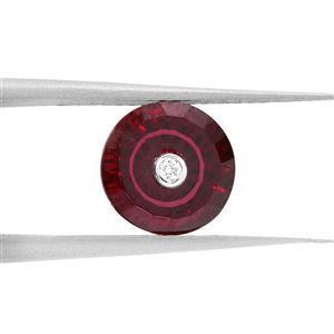 1.8cts TorusRing Cut Garnet 8x8mm Round  (N)