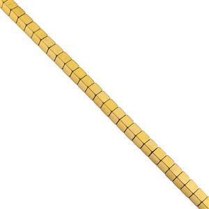 Gold Colour Coated Haematite Gemstone Strands