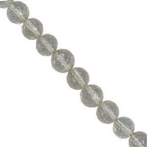75cts Green Amethyst Faceted Round Approx 5.4mm to 6.6mm 30cm Strand
