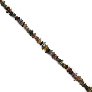 90cts Tourmaline Small Chips Approx 2x4 - 3x8mm, 38cm Strand