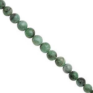 50cts Emerald Smooth Round Approx 4 to 7mm, 19cm Strand