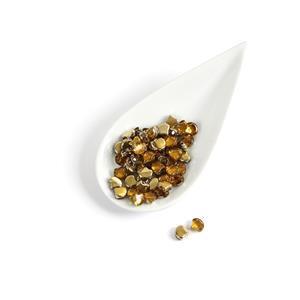 Ginko Backlit Golden Ice Beads, 7.5mm (22GM/TB)