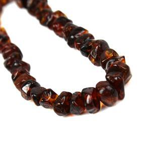 Baltic Cognac Amber Nuggets Strand, Approx. 6-9mm, 20cm
