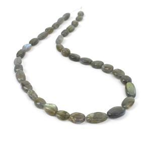 115cts Labradorite Tumble Nuggets Approx 8x7mm to 14x10mm, 38cm Strand
