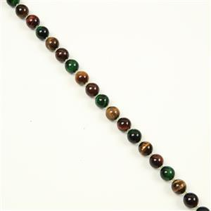 350cts Red & Green Tiger's Eye Plain Rounds & Peridot Faceted Rounds, Approx 12&2mm, 38cm