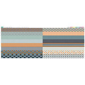 Marmalade 16 Fabric Strips Panel: 140cm x 59cm