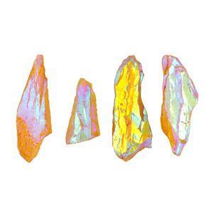 Mystic Yellow Colour Coated Quartz Gemstone