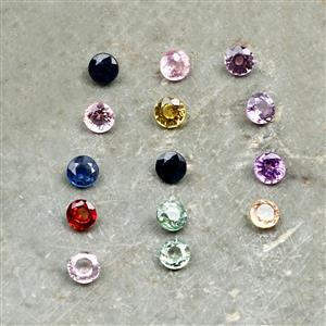 0.30cts Rainbow Sapphire Fancy Round Approx 3.50mm Loose Gemstones, (Pack of 2)