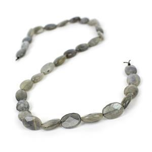 90cts Labradorite Faceted Ovals Approx 12x8mm, 38cm Strand