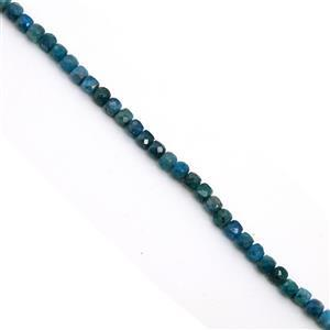 70cts Apatite  Faceted Cubes Approx 4mm, 38cm