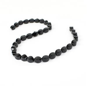200cts Black Agate Twist Bead Approx 12x8mm, 38cm Strand