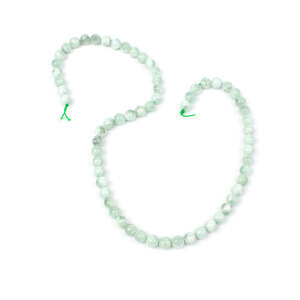 100cts Green Angelite Plain Rounds Approx 6mm, 38cm Strand