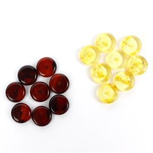 Black Friday Special! Baltic Chey & Lemon Amber Disc Beads (16pcs)