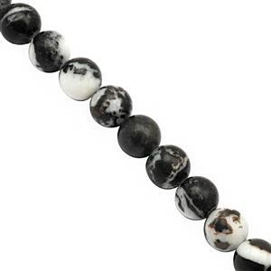 310cts Zebra Jasper Smooth Round Approx 10 to 10.50mm, 38cm Strand