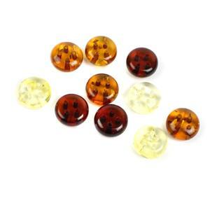 Baltic Multi-Colour Round Buttons Approx 10mm (Pack of 10)