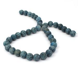 270cts Frosted Blue Sesame Jasper Rounds Approx 10mm, 38cm Strand