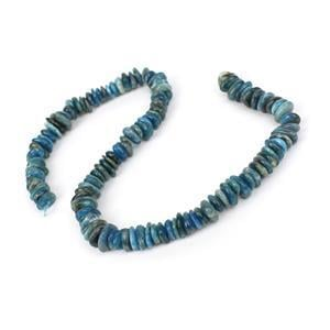 350cts Apatite Centre Drilled Slices Approx 2x8mm, 38cm strand