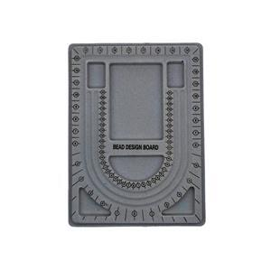 "Plastic Bead Board, Covered In Grey Colour Flocking 13"" x 9-1/2"""