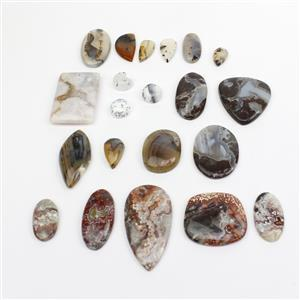 Agate Cabochons Bundle! Including a Variety of Agates