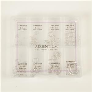 935 Argentium Finest Silver Jump Ring Bundle With Storage Box (126pcs)