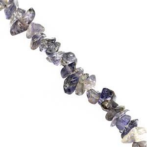 110cts Iolite Bead Nugget Approx 3x2 to 7x3mm, 80cm Strand