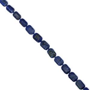 "400ct Lapis Lazuli Faceted Slab Loose Beads Strand 15"" 13x18-16x22mm"