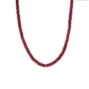 85.54ct Thai Ruby Sterling Silver Graduated Necklace (F)