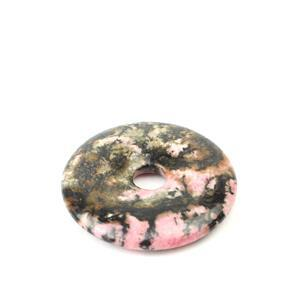90cts Rhodonite Donut Approx 40mm, 1pk
