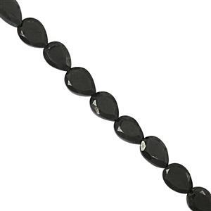 75cts Black Spinel Faceted Heart Approx 5 to 8.5mm, 31cm Strand