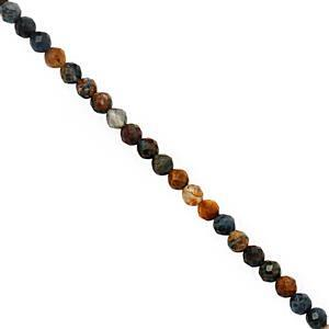 15cts Pietersite Faceted Round Approx 2.50mm, 38cm Strand