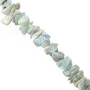 "120cts Larimar Bead Nugget Approx 3x1.5 to 6x2mm, 32"" Strand"