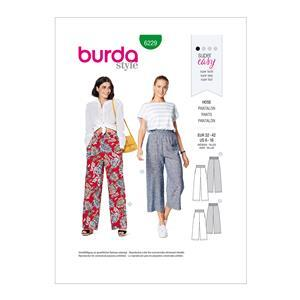 Burda Style Misses' Pull On Pants Pattern: Sizes 6-16
