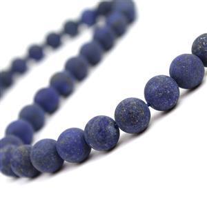 330cts Dyed Lapis Lazuli Plain Matt Rounds Approx 10mm, 38cm strand