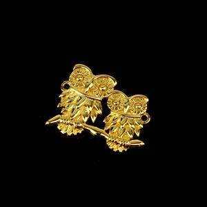 Gold Plated 925 Sterling Silver Our Mommy & Baby Owl Connector 20mm 1pk