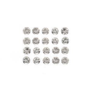 2cts Serenite Brilliant Round Approx 3mm Loose Gemstones, (Pack of 20)