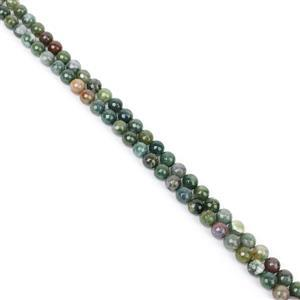 11th Birthday Special! 2x 260cts Fancy Jasper (Indian Jasper) Faceted Rounds Approx 10mm