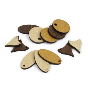 Earring Bundle - Light and Dark wood