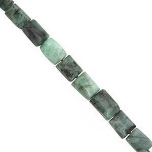 95cts Emerald Graduated Plain Rectangle Approx 6x5 to 11x9mm, 24cm Strand