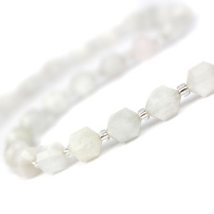 100cts Moonstone Fancy Faceted Beads Approx 8x7mm, 38cm Strand