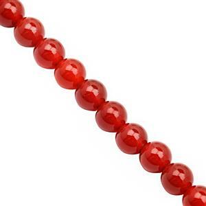 52cts Red Onyx Smooth Round Approx 6mm, 20cm Strand