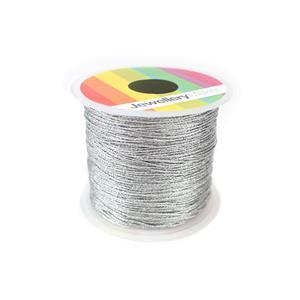 Silver Sparkle Nylon Thread, Approx 0.5mm (30m)