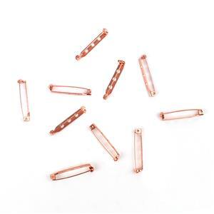 Rose Gold Colour Brass Brooch Back Approx 33mm 10pk