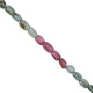 18cts Multi-Colour Tourmaline Smooth Oval Approx 4 to 6mm, 20cm Gemstone Strands